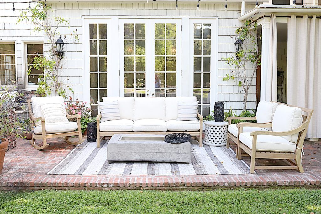 Hampton Outdoor Sofa Arhaus In 2020 White Patio Furniture Outdoor Patio Furniture Best Outdoor Furniture