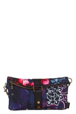 5a15a69e2e3e Desigual Women s Flores David bag with a buckle and zip fastening and a  detachable strap. Measurements  28x16x2.5 cm.   11.02