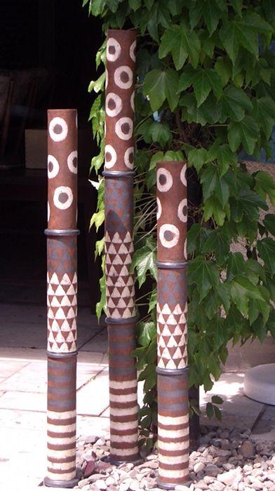 säulen für den garten - gartenkeramik von margit hohenberger, Garten ideen gestaltung
