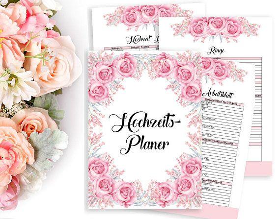 Hochzeitsplaner Druckbarer Planer DIY Hochzeit Planer Buch ...
