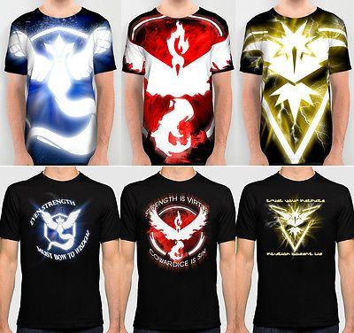 Pokemon Go Team Valor / Mystic / Instinct Cool T-Shirt (cod: ev-c) World of Ash    #WorldOfAsh #PokemonGO #Pokemon