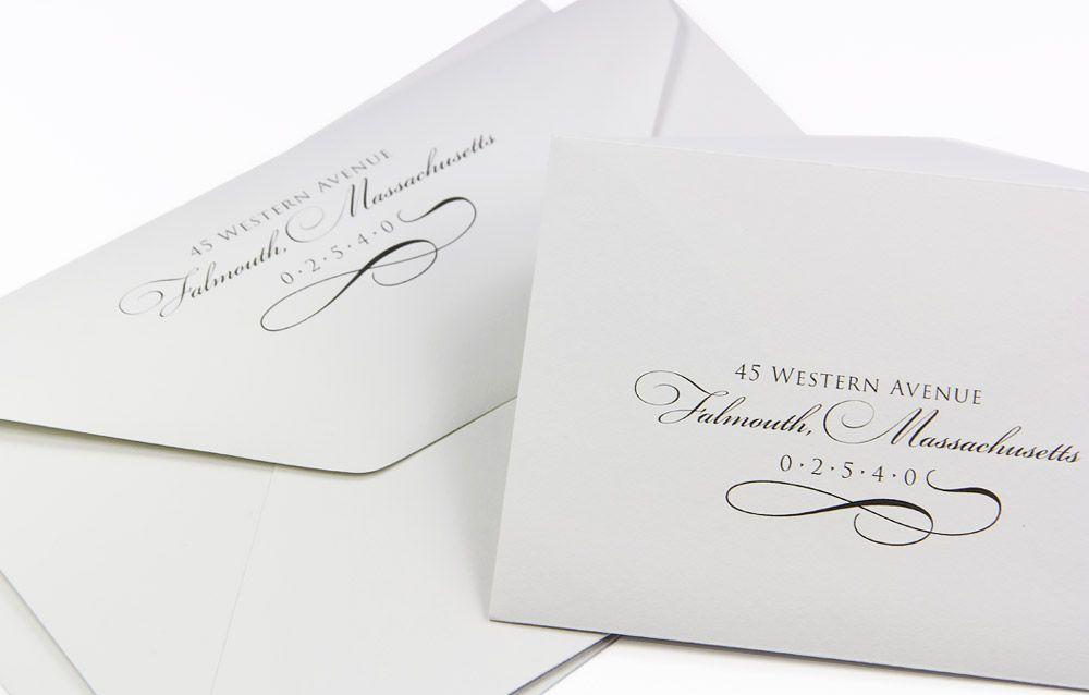 elegant wedding envelopes 100 cotton custom printed return