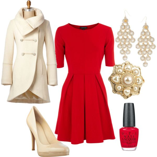 Company Christmas Party - Pearl And Red Style Pinterest Christmas Party Outfits, Outfits