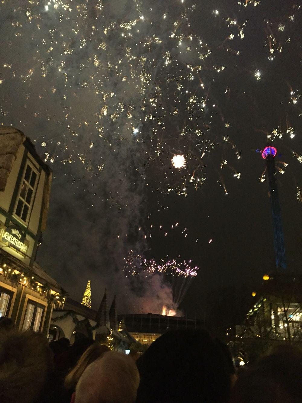 New Years Eve fireworks at Tivoli
