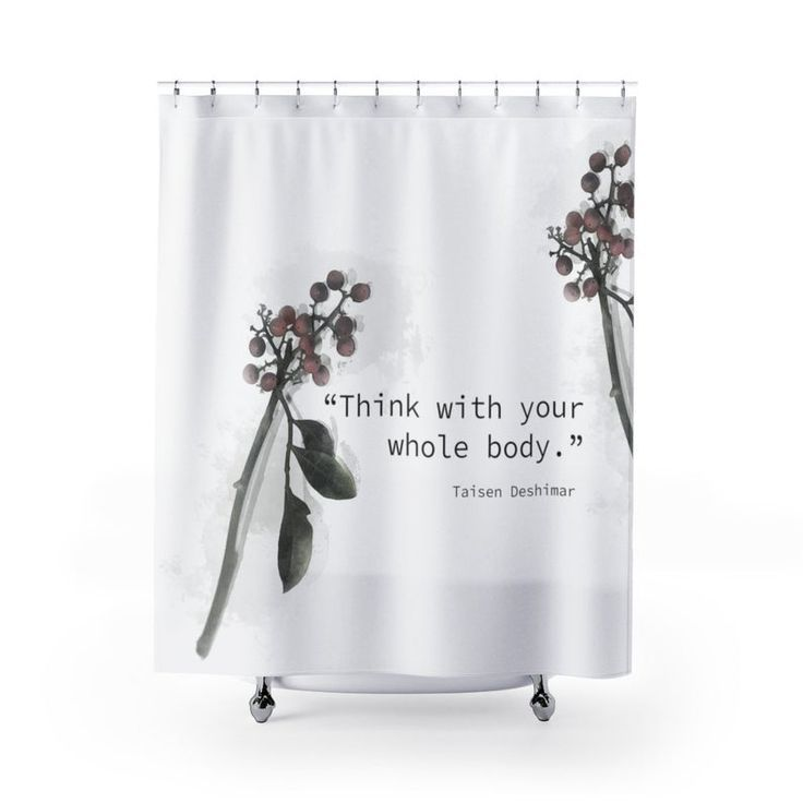Mindfulness Quote Shower Curtain Zen Bathroom Decor Etsy In 2020