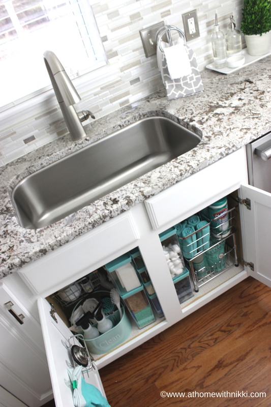 How To Organize Under The Kitchen Sink Organization Ideas, Under Sink  Organization Kitchen, Undersink