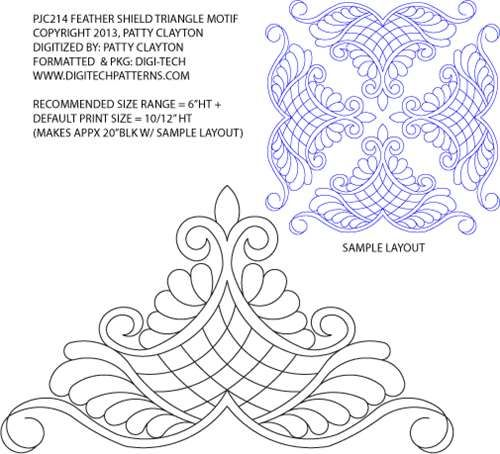 Patterns for paper, quilting and crafts