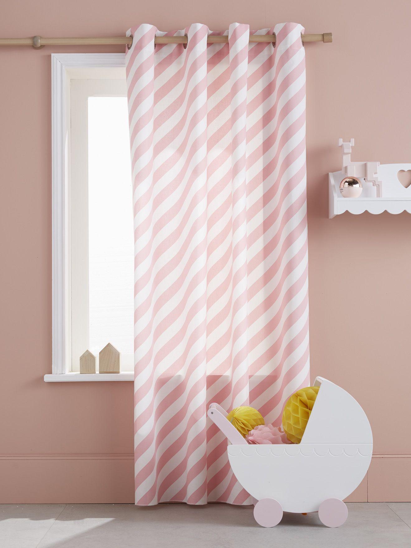 Un rideau enfant de qualité proposé en version rayée aux coloris ...