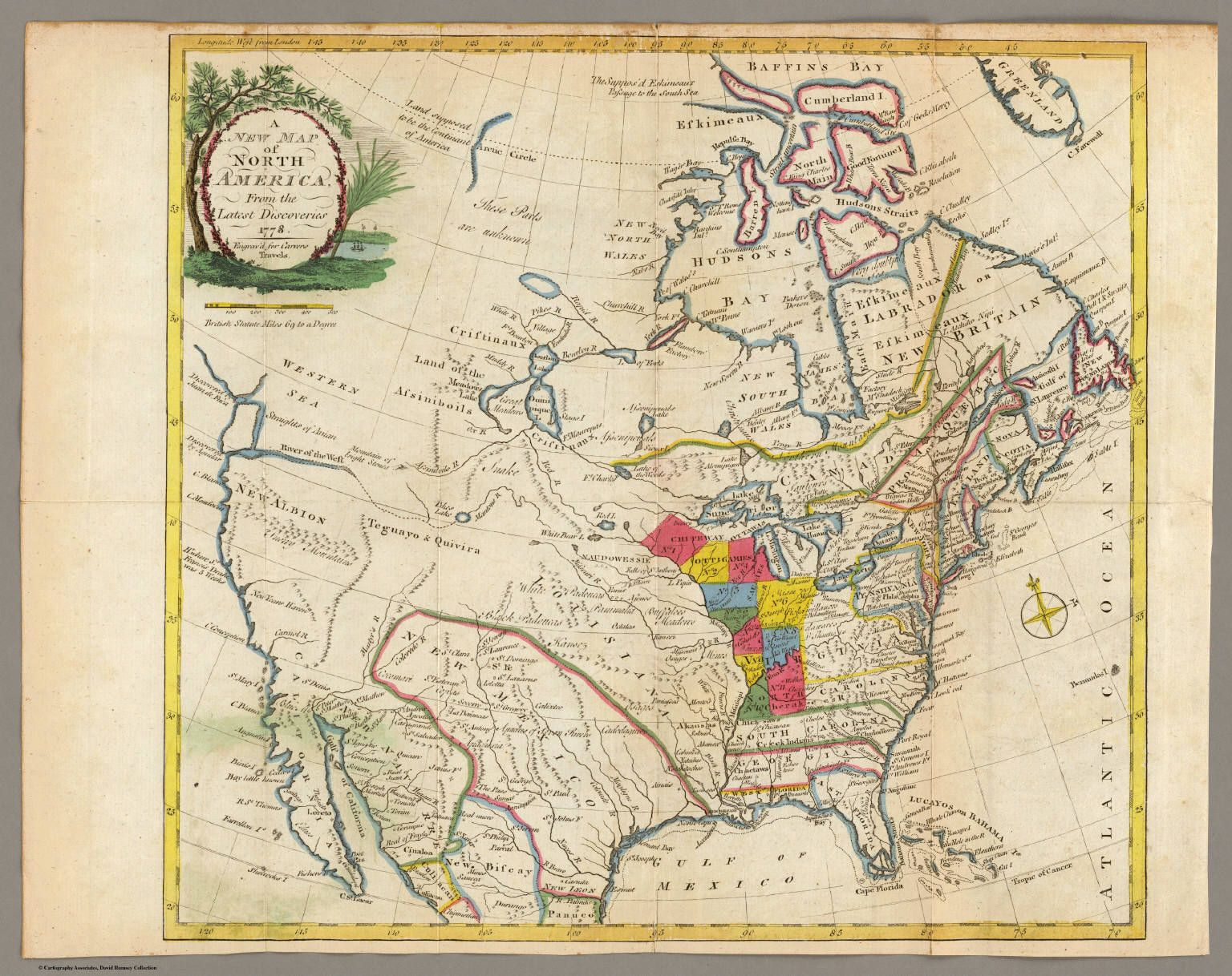 1778 version of map of north america maps pinterest genealogy 1778 version of map of north america gumiabroncs Images