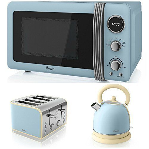 swan kitchen appliance retro set   blue microwave blue d    https  swan kitchen appliance retro set   blue microwave blue d    https      rh   pinterest co uk
