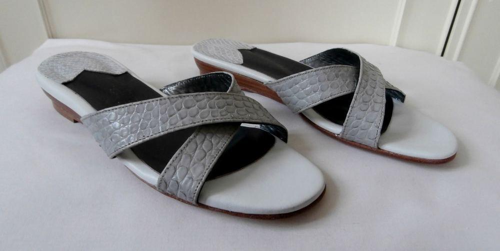 BNWOB Laurent Effel Dark Brown Leather Sandals Slides Mules Sz Euro 36 UK 3