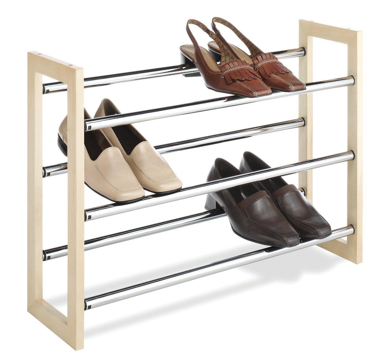 Good Cool Shoe Racks With Moder Chrome Design For Homemade Shoe Rack
