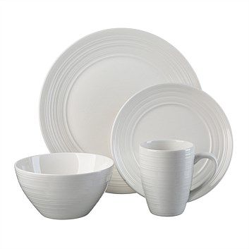 Briscoes - Thompson Ripple White Dinner Set - 16 Piece  sc 1 st  Pinterest & Dinner Sets - Dining \u0026 Entertaining - Briscoes - Thompson Ripple ...