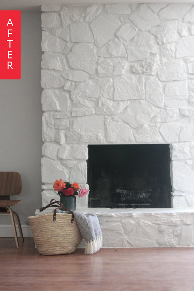 before after a striking yet simple fireplace makeover in 2019 rh pinterest com