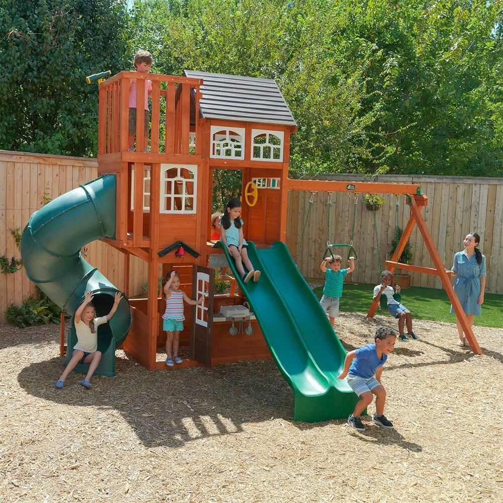 Cedar Summit Copper Ridge 3 Storey Playcentre 3 10yrs Climbing Frame