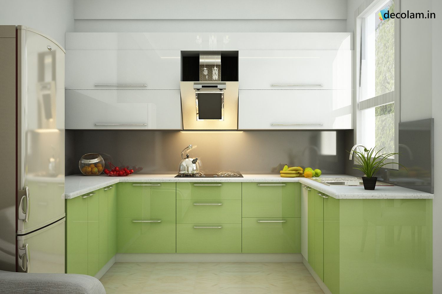 Wonderful U Kitchen That Will Leave You Breathless Get Many More Textures From Virgo Mica Laminates Kitchen Green Kitchen Kitchen Cabinets