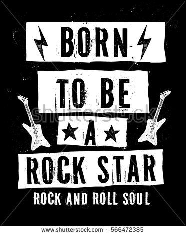 Image by Shutterstock Rock And Roll In Hand Lettering Men/'s Tee