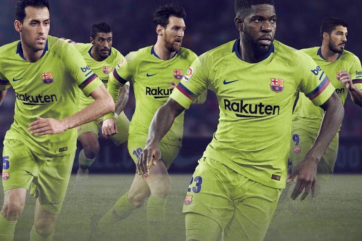 7a69f66ee37 FC Barcelona 18-19 Away Kit Released - Footy Headlines