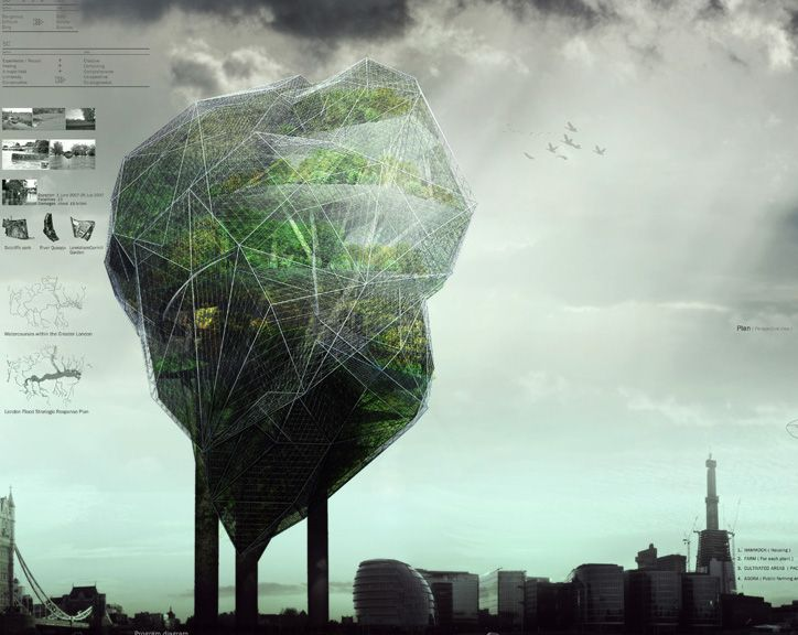 1st place - VAWA (South Korea) - Architects at Play: See How London's Vertical Farms Could Look Like - Softpedia