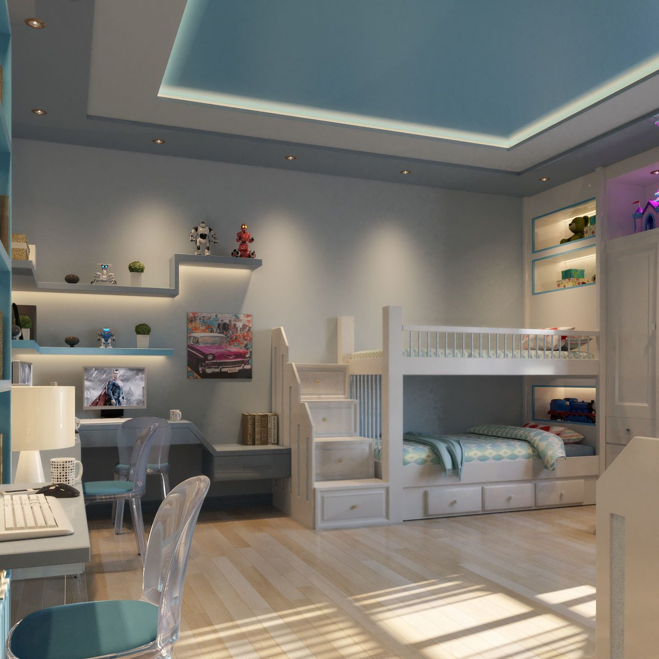 2 Boy Bedroom By Syriana 2 Boy Bedroom Modern Design Hope U Like It Vray Physical Camera Are Pr Boys Bedroom Modern Kids Bed Design Modern Bedroom Design