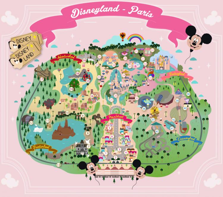 La Carte De Disneyland Paris A Telecharger Et Des Fonds D Ecran Carte De Disneyland Paris Disneyland Carte Disneyland
