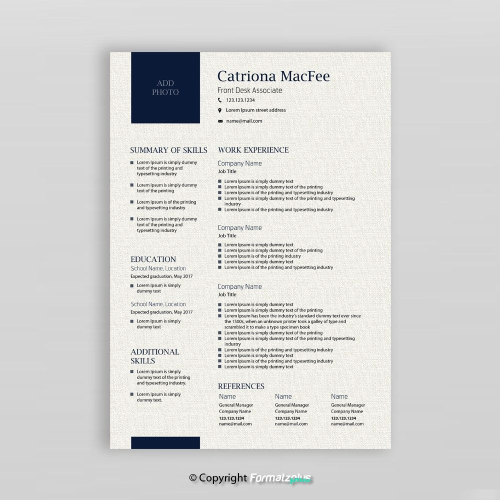 Creative Resume Template  Modern Resume  Resume Template Instant