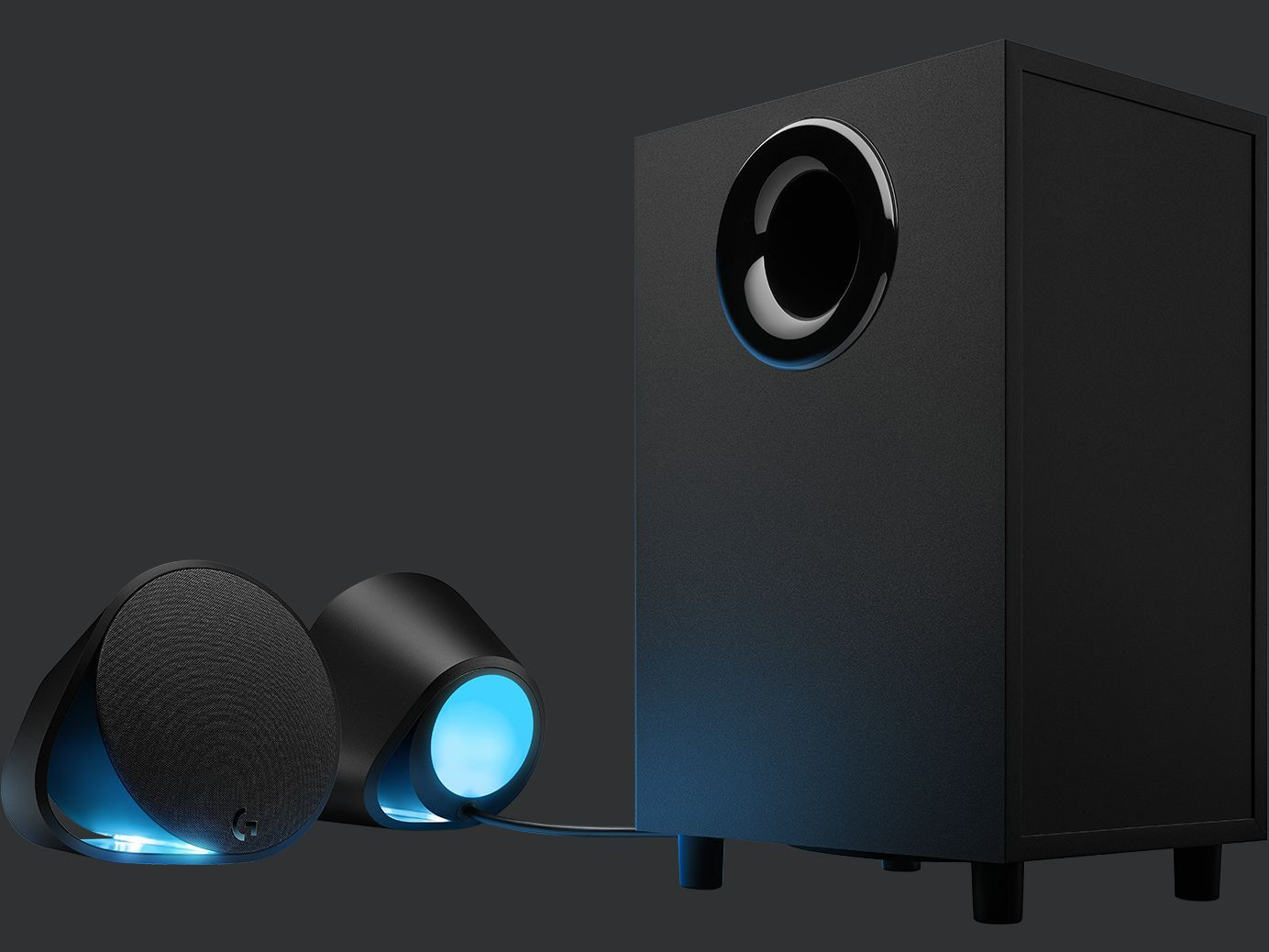 Logitech G560 RGB PC Gaming Speakers with Game-Driven