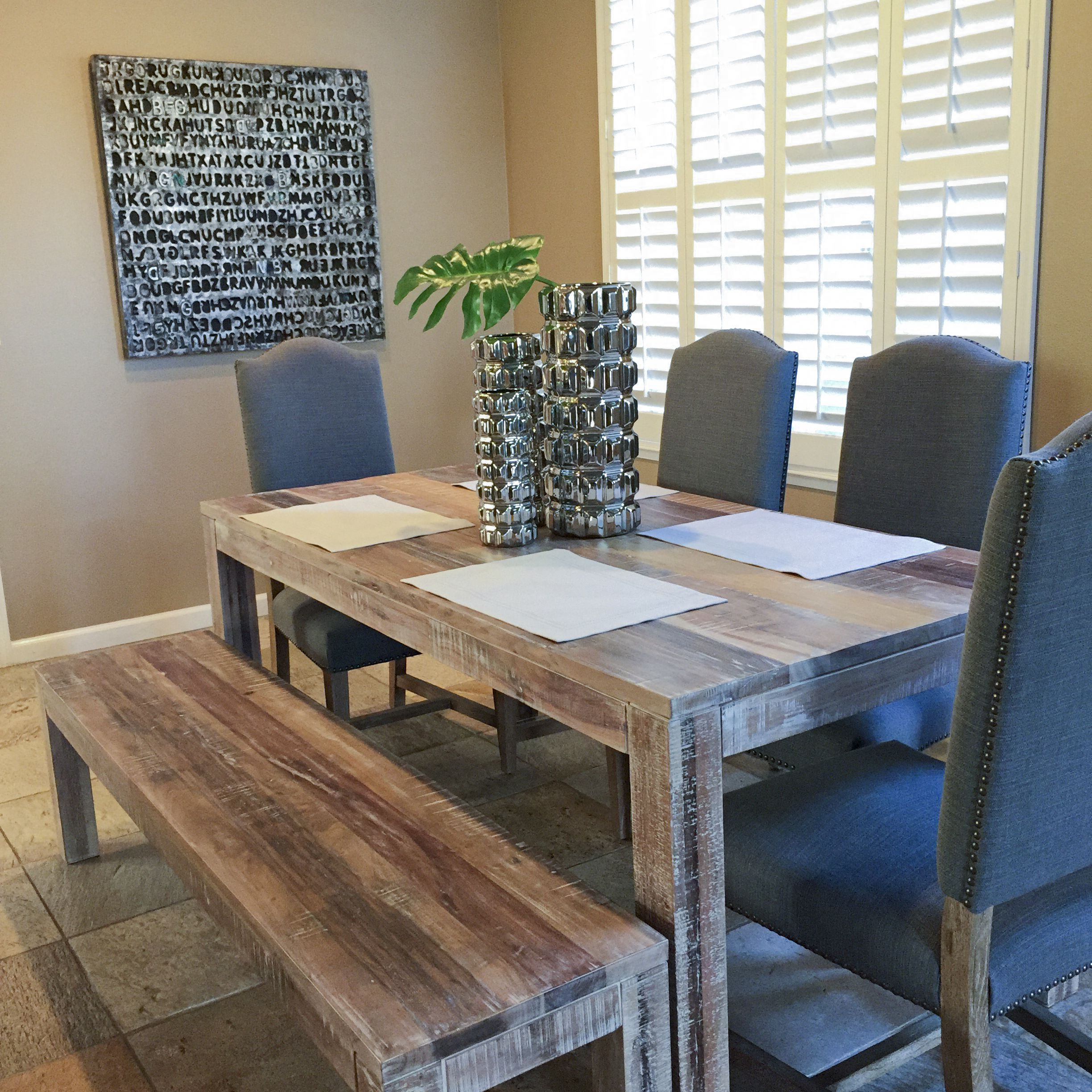32++ Farmhouse table with upholstered chairs ideas in 2021