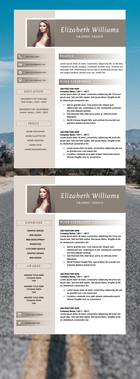 Editable Resume Templates CV Format Word Elizabeth