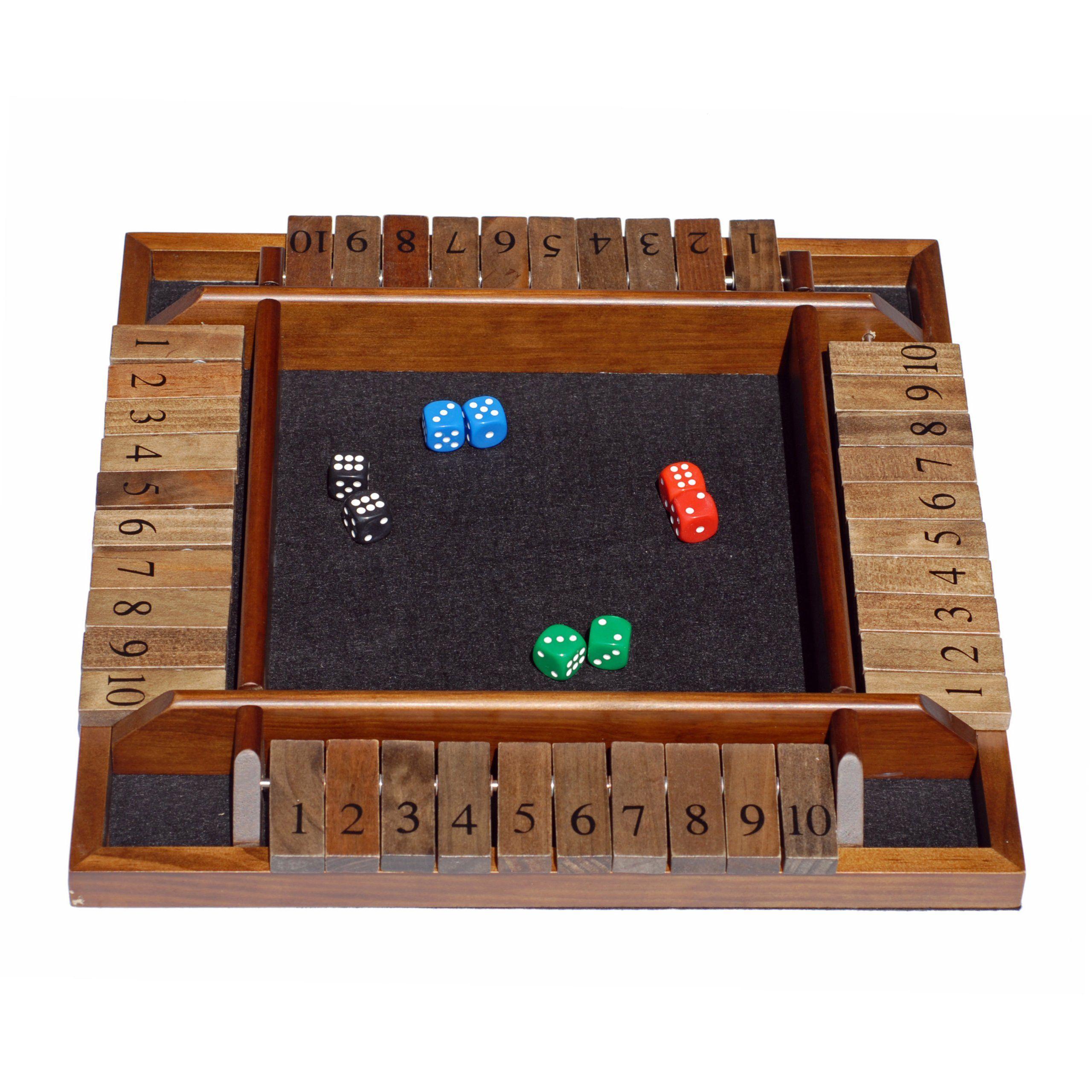 how to play shut the box math game