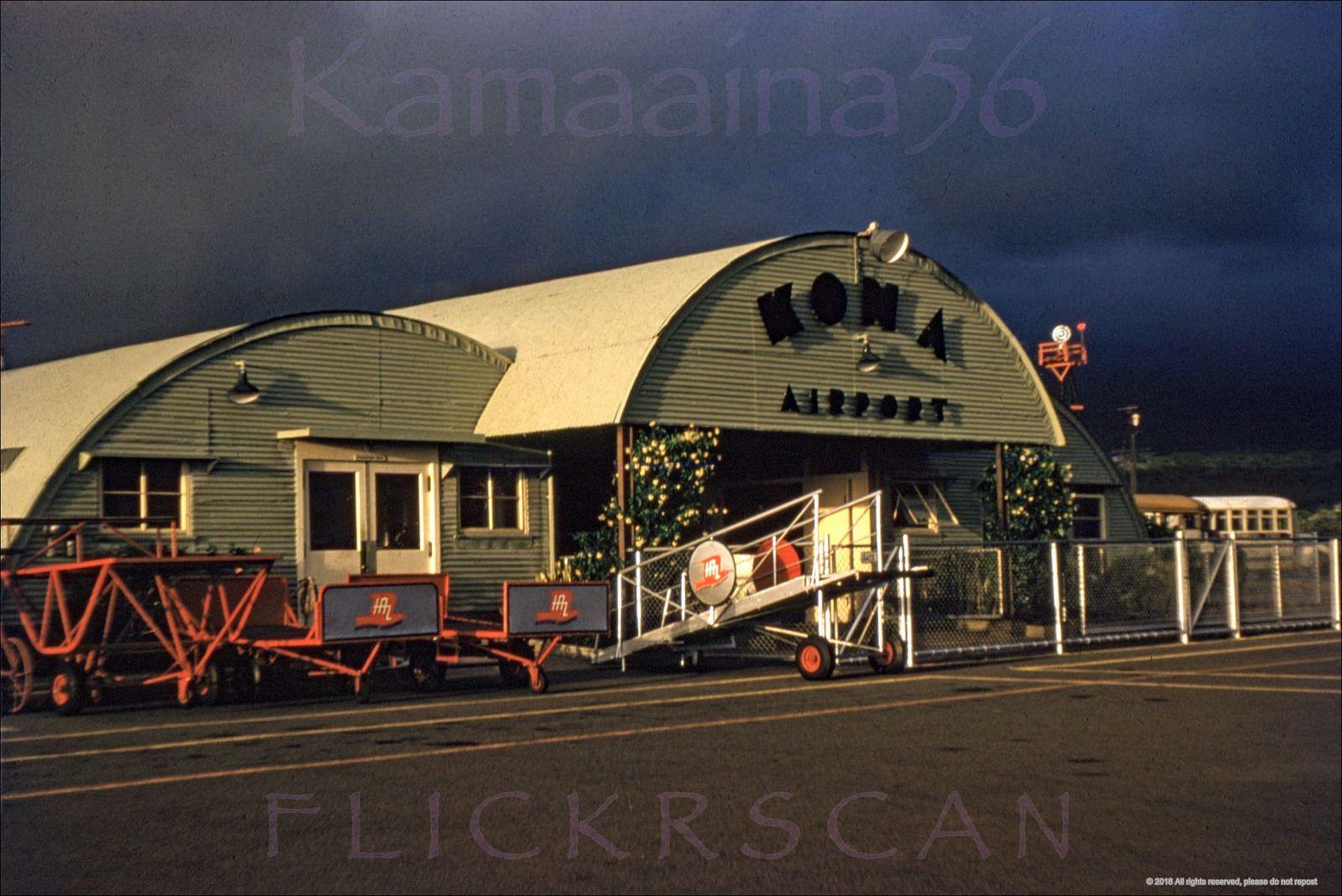 Old Kona Airport Quonset 1950s Big island, Kailua kona