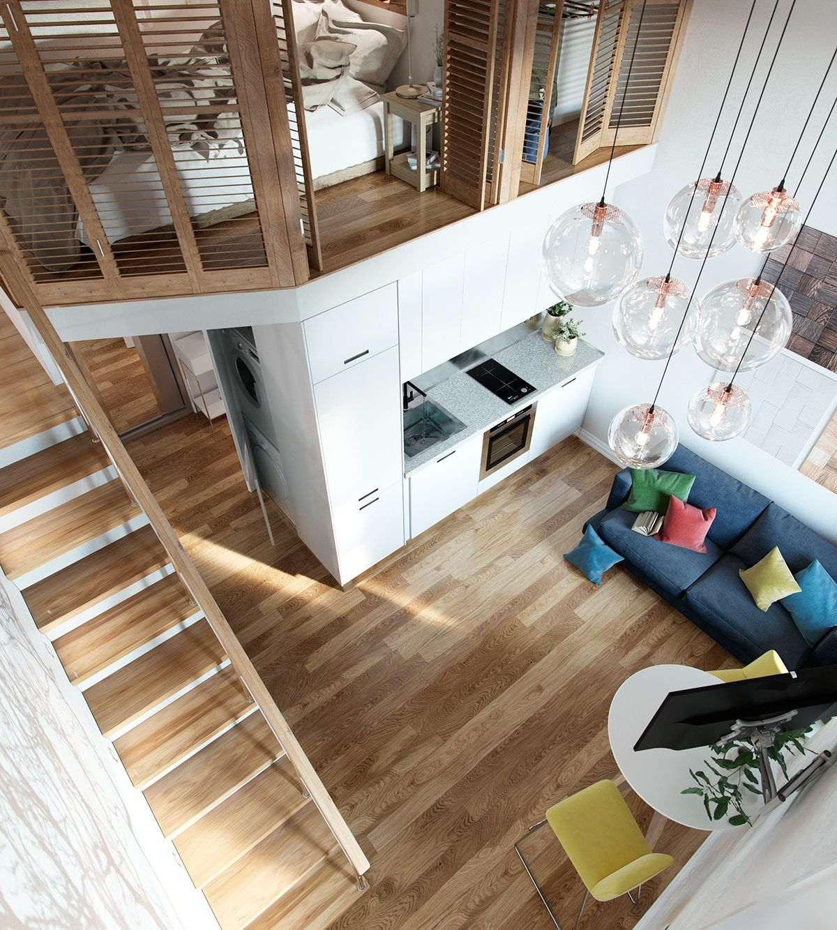 Studio Apartment Vs Loft the sky is the limit when tall ceilings meet compact floor plans