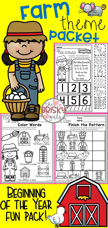 Back To School Kindergarten Activities Take Home Packet