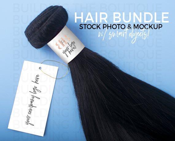 Hair Bundle Mockup Hair Bundle Stock Photo Hair Extensions Etsy In 2021 Hair Bundles Business Hairstyles Stock Photos