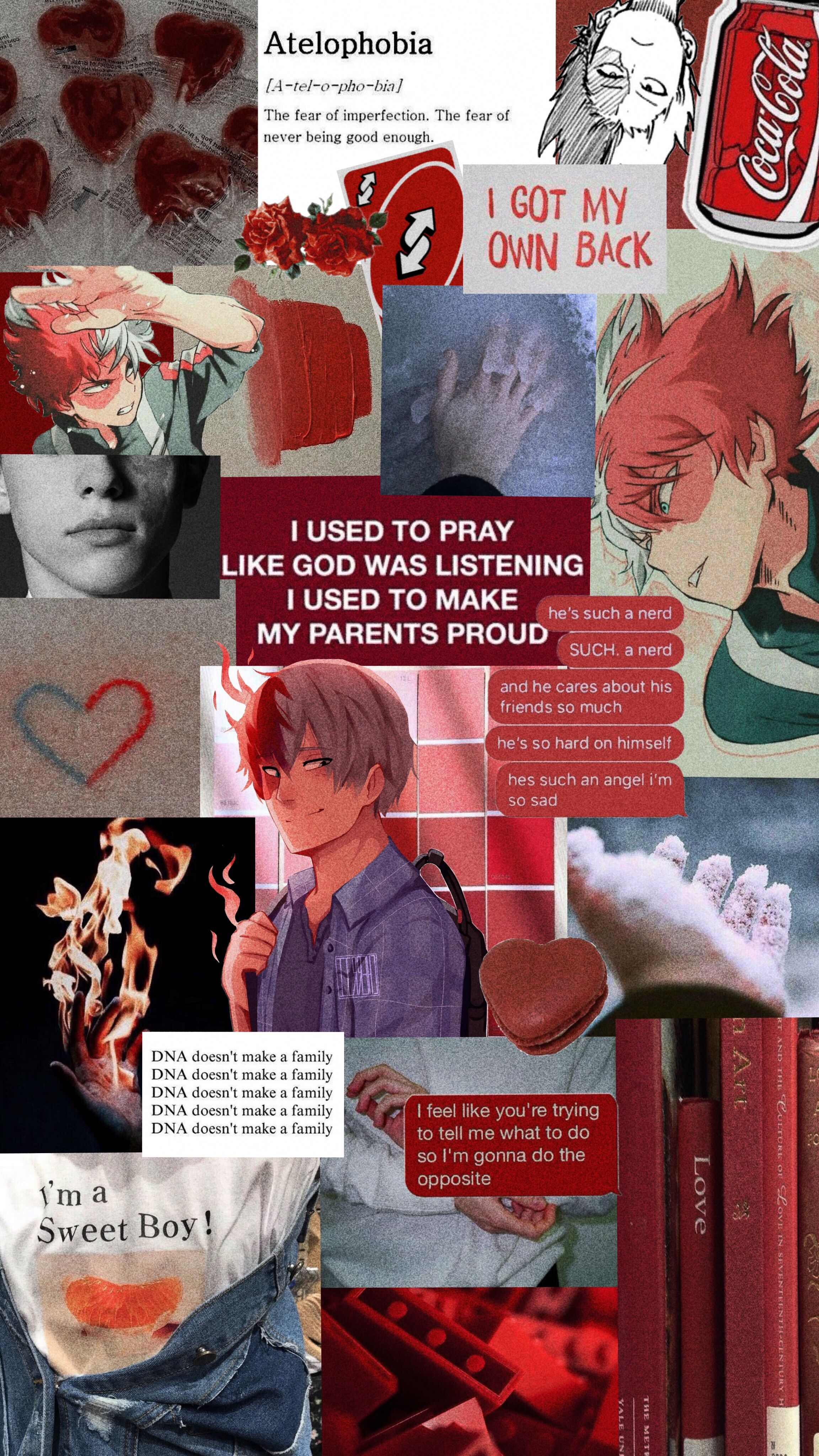 Aesthetic Wallpaper Todoroki Shoto From Boku No Hero Academy
