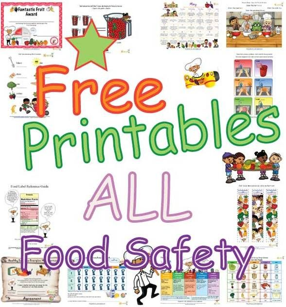 Food Safety Printables For Children Kids Cooking Class Planning