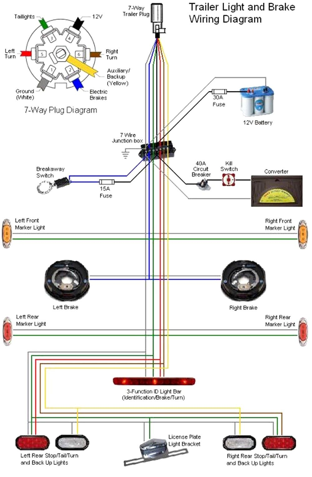 Chevy 7 Pin Trailer Wiring Diagram Sources Trailer Light Wiring Utility Trailer Trailer Wiring Diagram