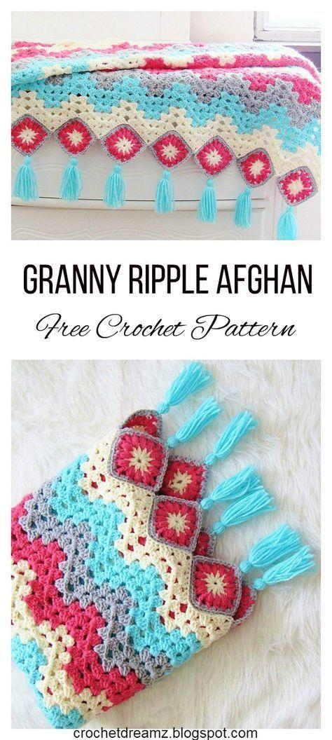 Perfect Spitzen Häkeln Afghan Muster Frei Mold - Decke Stricken ...
