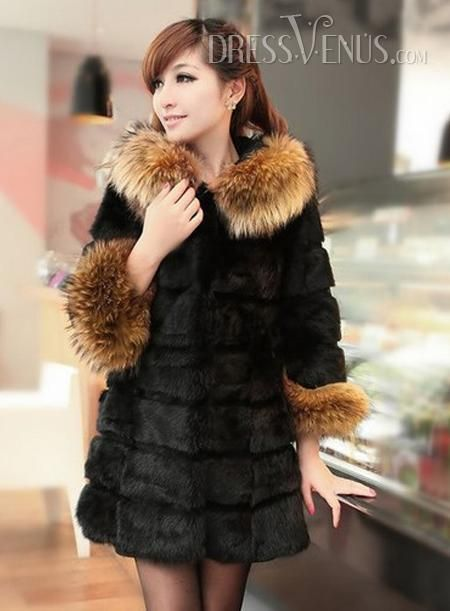 Fascinating New Arrival Long Fox Leather Outerwear, #Clothing  #Outerwears  #MarketPricde $149.00  But now Only $51.59