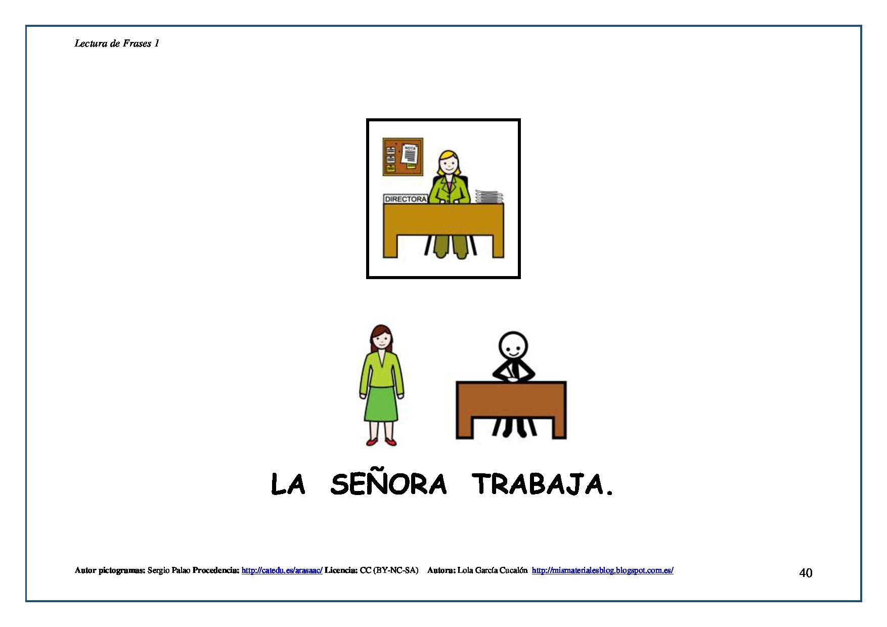 ARASAAC - Materiales: Libros de lectura de frases en mayúsculas ...