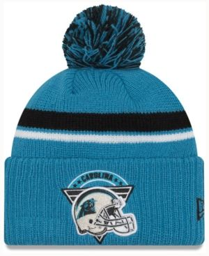 28efc869aa7578 New Era Carolina Panthers Diamond Stacker Knit Hat - Blue Adjustable ...