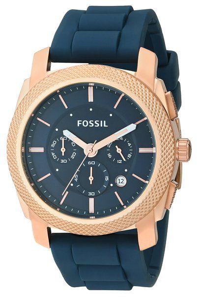 Fossil Men's FS4953 Analog Display Analog Quartz Blue Watch