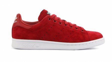adidas Originals Stan Smith Suede Sneakers Rood online