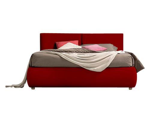 Facondini Camere Da Letto.Letto Contenitore Matrimoniale In Ecopelle Rosso Colore Rosso Ad