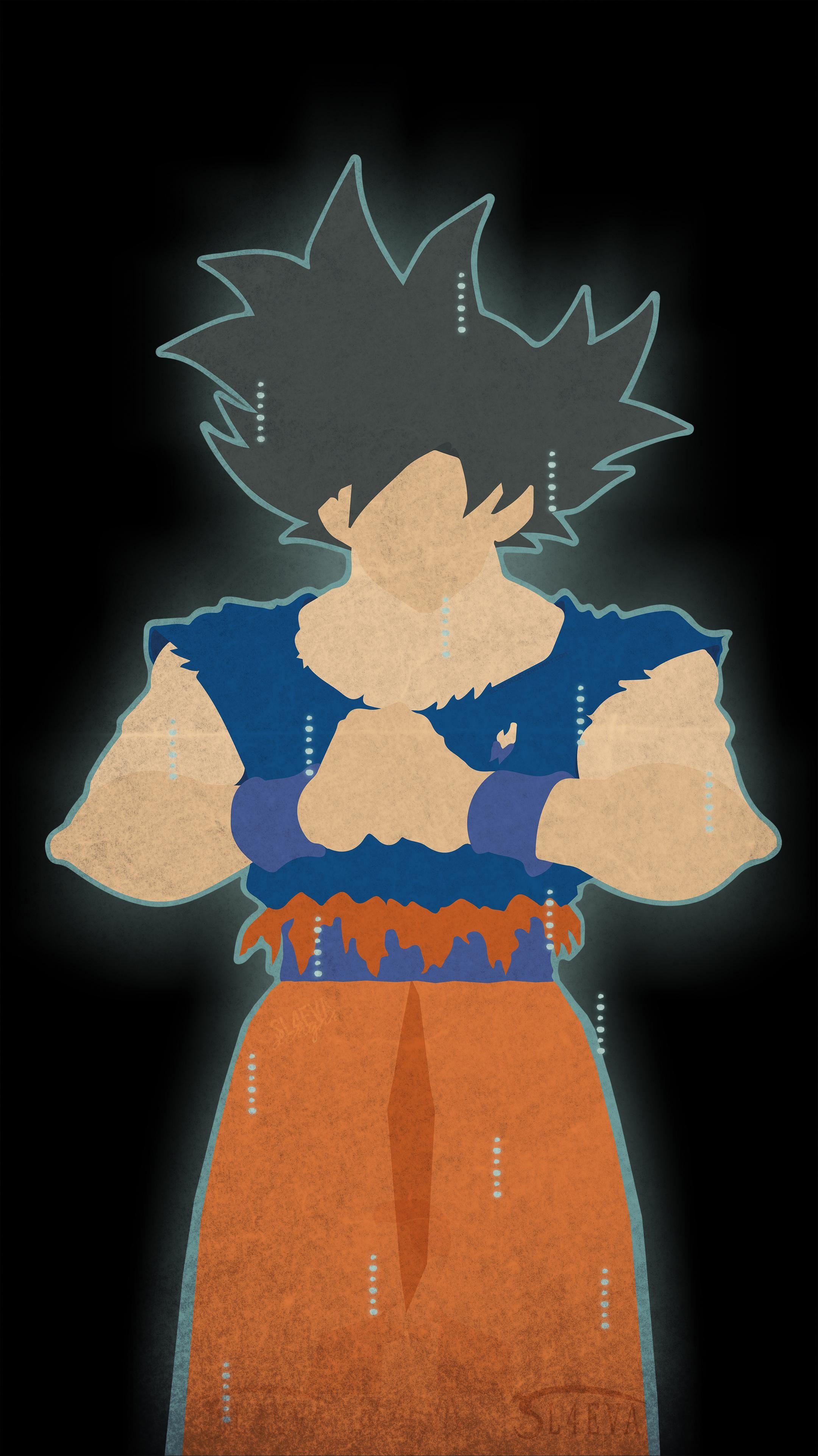 2160x3840 Ultra Instinct Goku Minimal Mobile Wallpaper I Redd It Submitted By Rikudosenjutsu To R A Zen Wall Art Psychedelic Illustration Mobile Wallpaper
