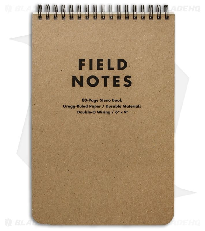 Field Notes Steno Book Gregg-Ruled - Original Cover - (Brown) FN-07 - Blade HQ