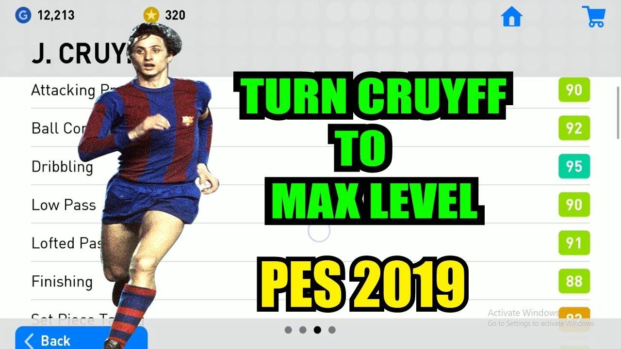 Level up players in pes | How to turn J CRUYFF to MAX LEVEL in PES