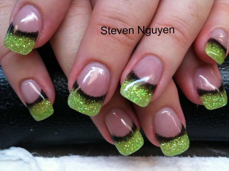 Nail art..Pink and Lime Green is what i am going to do instead of ...