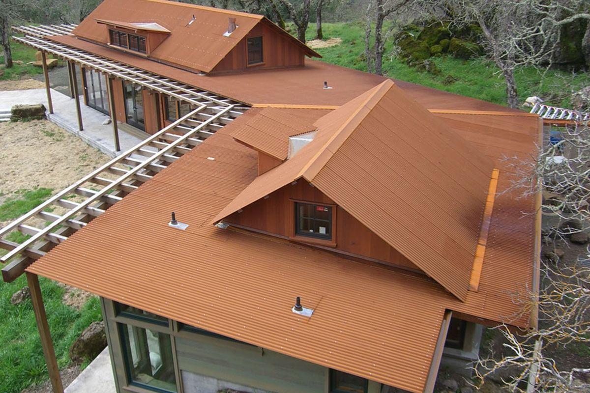 Image Result For Corten Corrugated Panels Corrugated Metal Roof Metal Roofing Prices Metal Roof