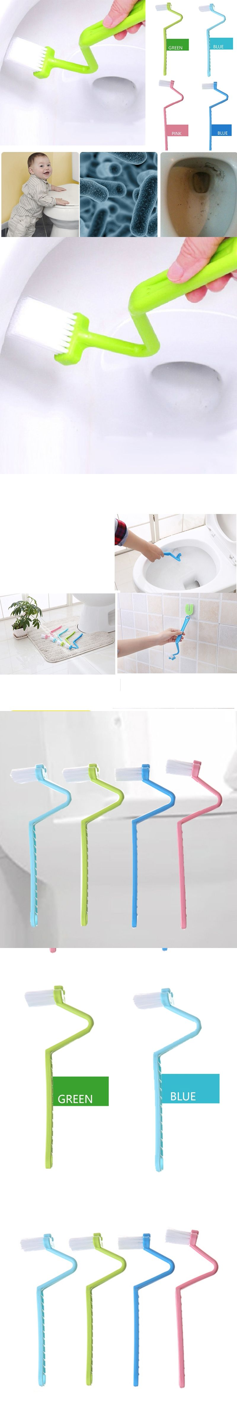 Family sanitary stype toilet cleaning brush curved bent handle